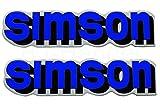 2x Aufkleber Schriftzug SIMSON blau S51 Tank BJ-Handel