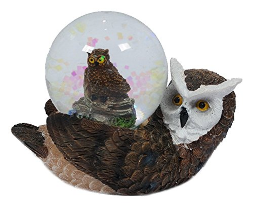 Eule Schneekugeln (Glitzerkugel Eule, liegend Schneekugel Tier Tiere Vogel Vögel Schneekugeln Eulen)
