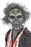 Máscara de Zombie con Cabellos Adulto