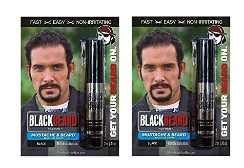 Blackbeard-for-Men-temporary-brush-on-colour-12ml-BLACK-X2