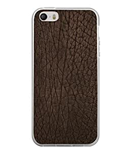 Fuson Designer Back Case Cover for Apple iPhone 4S (Pure Leathered Brown Color Girl Boy College)