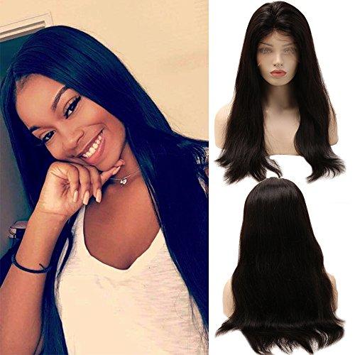 Perruque Femme Naturelle 100% Cheveux Humains Bresiliens Raide - Full Lace (Densité: 130%, Longueur: 20\\