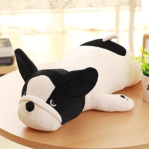¡Super blandito! Muñeco de bulldog negro y blanco