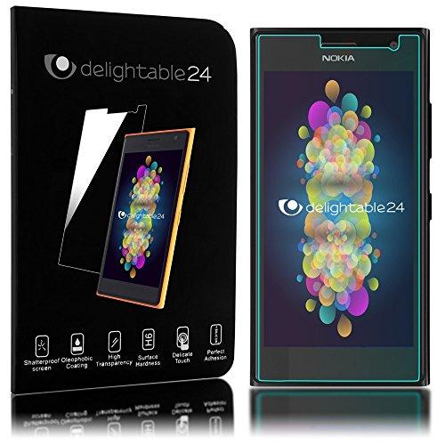 delightable24 Pellicola Protettiva Vetro Temprato Glass Screen Protector Smartphone NOKIA LUMIA 730 / 735 - Transparente