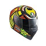 AGV 0301A0EY_005_XS K-3 SV E2205 Helm TOP PLK, Mehrfarbig, Größe XS