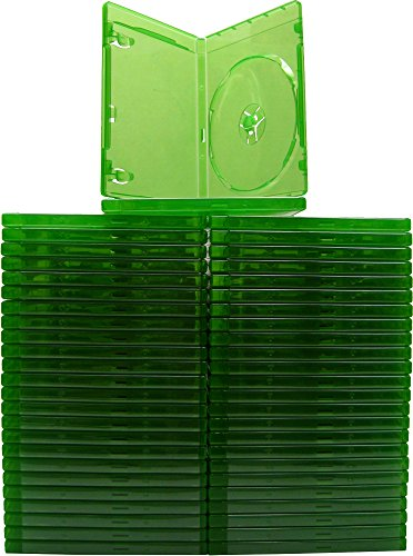 (50) Xbox One–Grün Transparent–12mm–Ersatz Spiel Fällen
