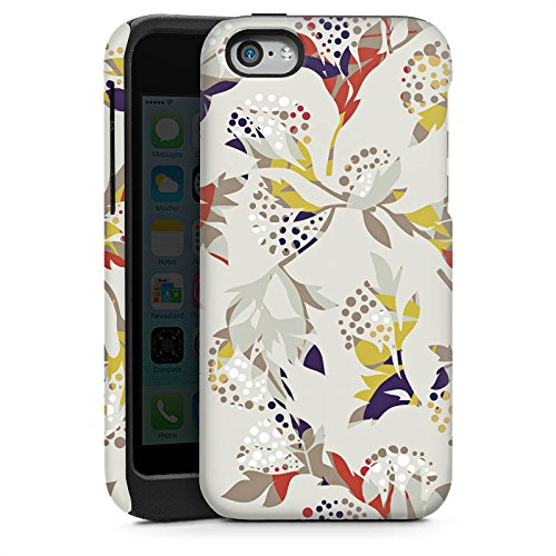 Apple iPhone 4 Housse Étui Silicone Coque Protection Fleurs Fleurs Motif Cas Tough brillant