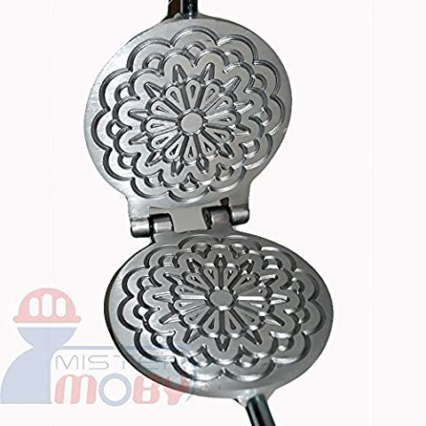 Mistermoby Traditional Italian Cookies Maker Machine Pizzelle Waffle Wafer Krumkake Model 5 by Mister Moby