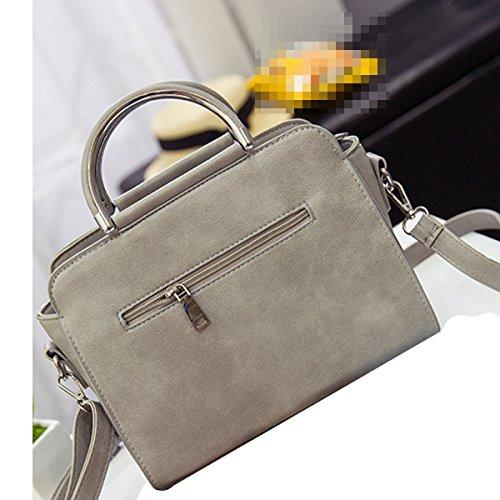 Stitching Moda Donne Morbidezza Borsa Borsa A Tracolla Multicolore Grey