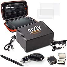 Accesorios 3DSXL, Pack de Orzly para Nintendo 3DS XL Original o Nuevo NEW 3DS XL [Set incluye: Cargador de Coche / Cable USB / Funda para Consola / Fundas para Cartuchos y más…] (Véase descripción)