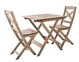 Ambientehome Balkonset Sitzgruppe klappbar Bistroset Lotta, braun, 3-teiliges Set