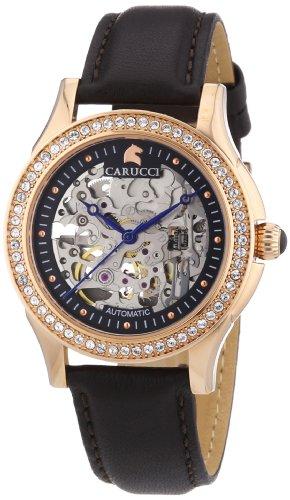 Carucci Watches CA2212RG - Orologio da polso donna, pelle, colore: marrone