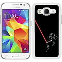 Funda carcasa para Samsung Galaxy Core Prime Darth Vader con sable SW borde blanco