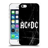 Head Case Designs Offizielle AC/DC ACDC Weiss Logo Soft Gel Hülle für iPhone 5 iPhone 5s iPhone SE