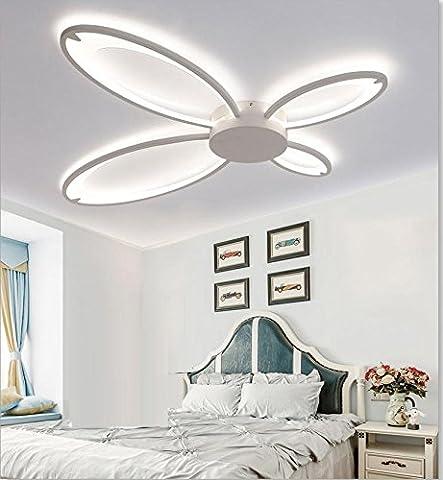 LED Acrylique Plafonnier Moderne Romantique 4-pétales Papillon Forme Conception Plafonnier