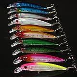 JOYOOO 10pcs/11cm di Minow Fishing Lure Bait dura con ganci in...