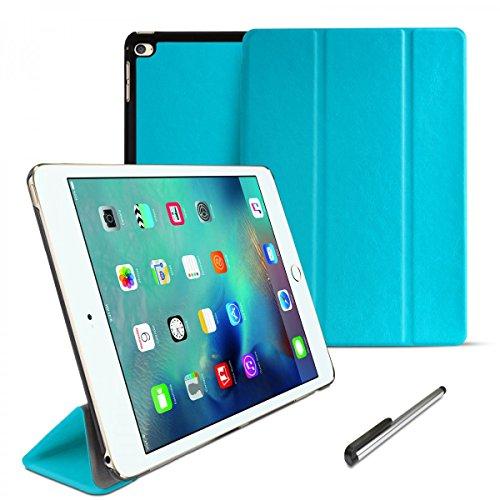 eFabrik Schutzhülle für Apple iPad Mini 4 Tasche türkis (7,9 Zoll 20,1cm) Design Cover Tablet Tasche mit Aufsteller und Sleep/Wake Up Funktion