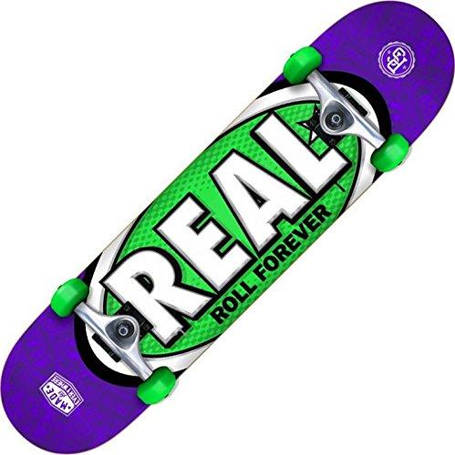 Véritable ovale Tons SM Violet/vert Skateboard complet 19,1 cm