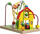 Lelin Wooden Wood Childrens Wire Farm Animals Bead Frame Roller Coaster Maze Toy by LELIN