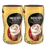 Nescafé Gold Typ Cappuccino Entkoffeiniert, Löslicher Bohnenkaffee, Instantkaffee, Kaffee, Dose, 2 x 250 g, 12311732