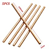 Saver 5pcs Diameter 3mm Pure Copper Cu Metal Rod Cylinder Length 100mm