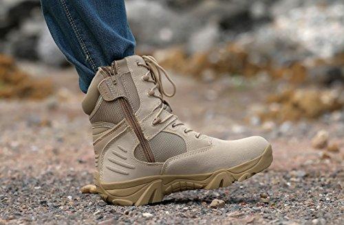 WZG Männer High-Top Wanderschuhe Kampfstiefel für militärische taktische Aufladungen taktische Wüstenaufladungen Training Wanderschuhe Camping sand color