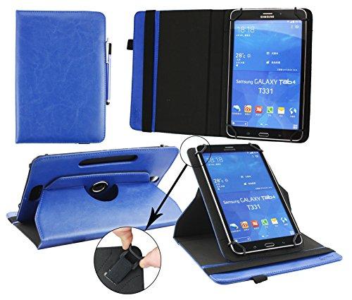 Emartbuy® AlpenTab Heidi 7 Zoll Tablet PC Universal ( 7 - 8 Zoll ) Dark Blau PrämiePULeder360GradrotierendeStandFolioGeldbörseTascheHülle + Blau Eingabestift