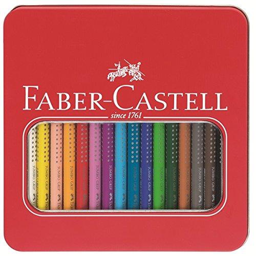 Faber-Castell 110916 - Buntstifte Jumbo Grip, 16 Stifte