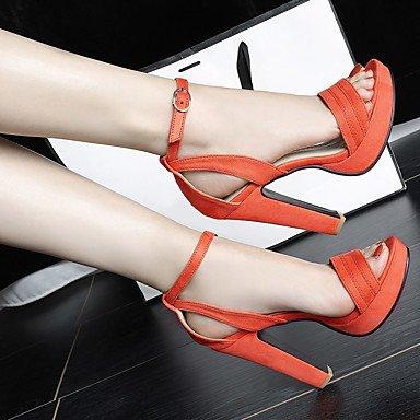 LvYuan Da donna-Sandali-Ufficio e lavoro Casual Serata e festa-Comoda-Quadrato-Finta pelle-Nero Rosa Arancione Pink
