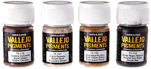Vallejo - Juego de pigmentos para Polvo y Suciedad, 4 x 35 ML