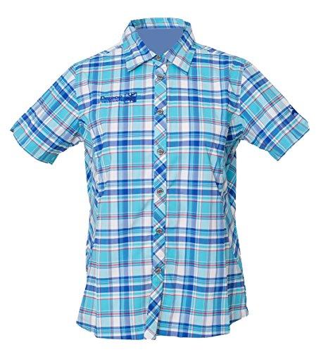funktionsbluse damen kurzarm DEPROC-Active Damen Hemd Funktionsbluse Sudbury, Light Blue, 42