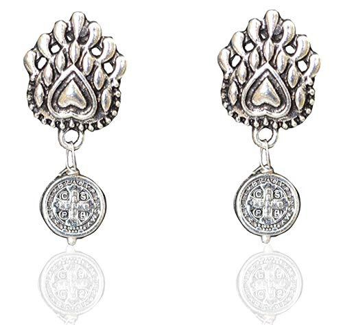 Sansar India Metal Oxidized Elephant Pendant for Women(Silver)