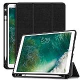 Infiland iPad Pro 10.5 Hülle mit eingebautem Pencil Halter, Ultra Schlank Superleicht Ständer Schutzhülle Cover Case Tasche mit Auto Schlaf / Wach Funktion für Apple iPad Pro 10,5
