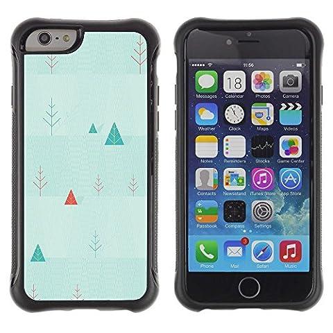 TaiTech / Hart Case Cover Handy Schutz Hülle Etui - Triangle Picea Christmas Tree Wallpaper Art - Apple iPhone 6 Plus