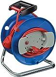 Brennenstuhl Garant G IP20 Gerätekabeltrommel (25m - Spezialkunststoff, Einsatz im Innenbereich, Made In Germany) blau