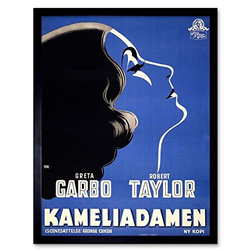 Wee Blue Coo LTD Advert Movie Film Camille Danish Release Garbo Taylor Art Print Framed Poster Wall Decor Kunstdruck Poster Wand-Dekor-12X16 Zoll
