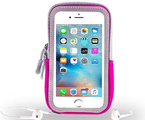 Hot Pink Running Sport Gym Reißverschluss Armband für iPhone 7Plus/Samsung Galaxy S7Edge/A5J3J5/LG G5/LG Stylus 2/LG Nexus 5x/LG X CAM/LG K4-K8/wileyfox Spark X Verizon Samsung Jet