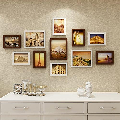 Die Bilder im Wohnzimmer an der Wand Dekoration Wandrahmen kreative Wand Foto wand Kombination.11.BilderrahmenDassDer Name des HerzenWeiß teak Box (Holz Name Keychain)