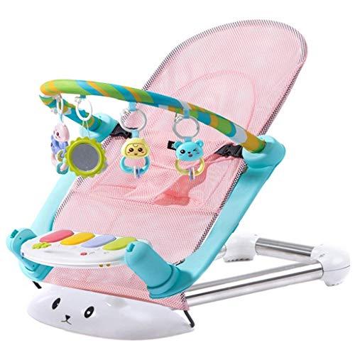 Znesd Kind-zu-Kleinkind Rocker, Kinder Deluxe Gliding Bassinet, 2-in-1 Universal-Baby-Spielraum-Beutel, bewegliche bassinet Krippe (Color : Pink) -