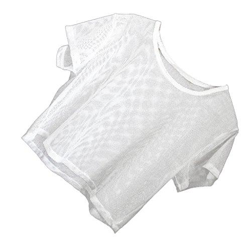 Sharplace Canotte Top T-shirt Camicie Magliette Yoga Sportivo Bra per Donna Ragazze bianca