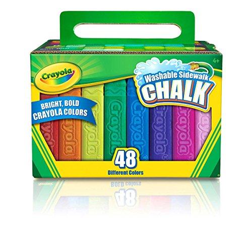 Crayola 48ct Sidewalk chalk - tizas (Multi, Plaza, Niño, Niño/niña, Caja, Papel)
