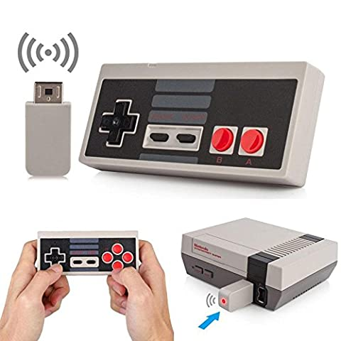 Wireless NES Mini Classic Rechargeable Controller,NES Wireless Gamepad For Nintendo Mini NES Classic Edition, Wireless Joypad & Gamepads Controller (Nintendo Entertainment