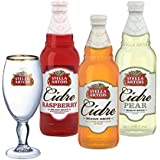 Stella Artois Cidre 3x 500ml Flavours Set with 568ml Branded Chalice Pint Glass