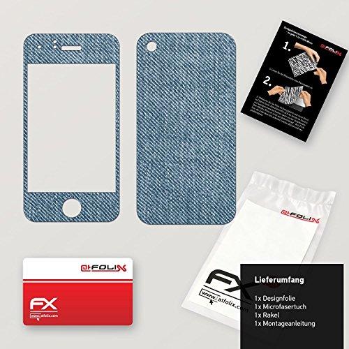 """Skin Apple iPhone 3Gs """"FX-Variochrome-Pearl"""" Designfolie Sticker FX-Denim-Blue"""