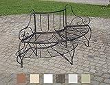 CLP Baumbank JETTE aus lackiertem Eisen | Elegante Rundbank im nostalgischen Design | In verschiedenen Farben erhältlich Bronze