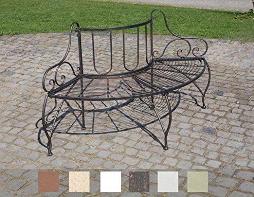 Panchine Da Giardino In Metallo.Clp Panchina Ad Angolo Da Giardino Jette In Metallo Laccato Stile