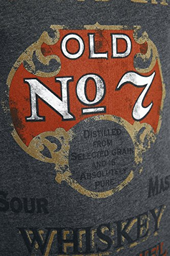 Jack Daniel's Old No. 7 Red Logo T-Shirt Grau Grau