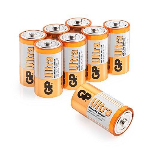 GP Ultra Alkaline Batterie - C, D  und 9V C Pack of 8 Ultra Alkaline 9v Batterien