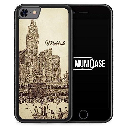 iPhone 8 Hülle SILIKON - Vintage Panorama Makkah Mekka - Motiv Design Islam Muslimisch Schön - Handyhülle Schutzhülle Cover Case Schale