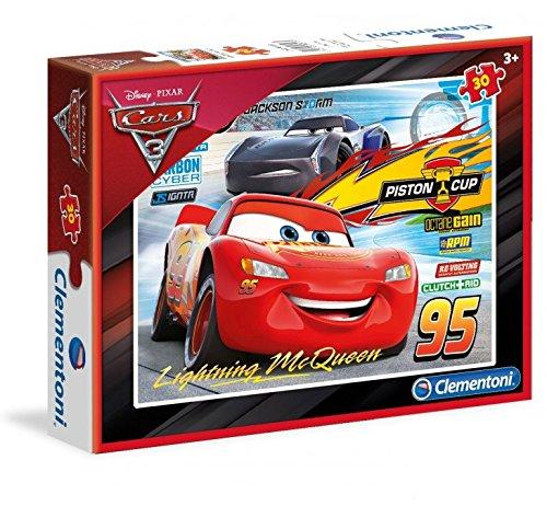 Clementoni 08513 cars 3 - puzzle bambini 33,5 x 23,5, confezione da 30 pezzi